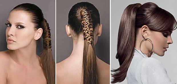 cabelos penteados para festas com rabos bh mulher