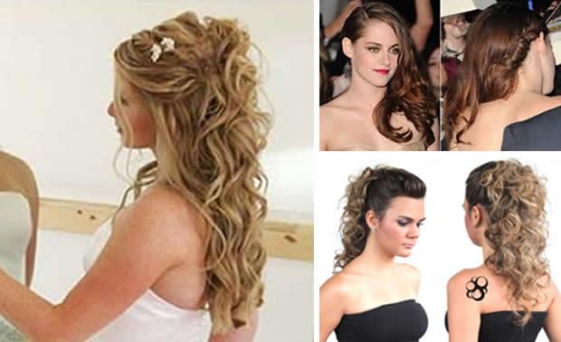 penteados festas cabelos compridos