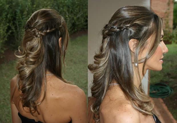 penteados formatura cabelos soltos bh mulher