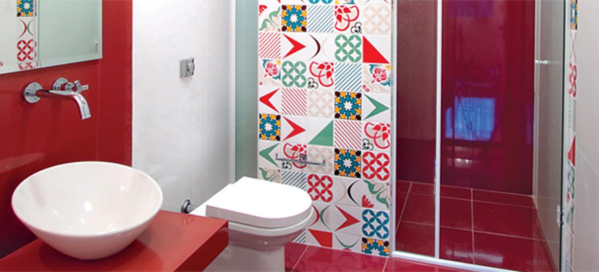 Decoração de Banheiro com Mosaico de Azulejo  BH Mulher -> Decoracao De Ceramica Para Banheiro Pequeno