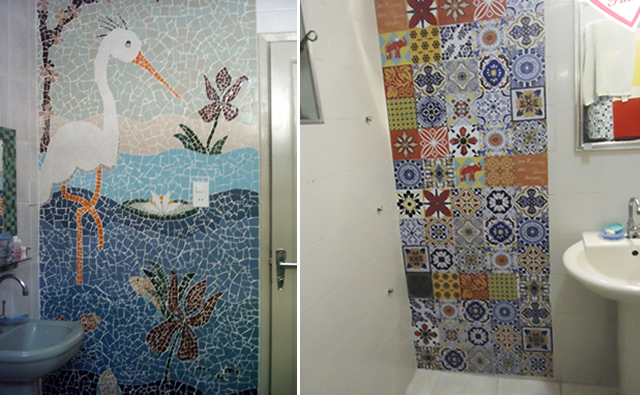 Decoração de Banheiro com Mosaico de Azulejo  BH Mulher -> Decoracao Azuleijo Banheiro