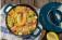 Receita: arroz com curry, camarões e feijões verdes
