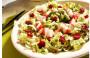 Salada de camarão e kani com maçã, cenoura, ervilha e nozes – Por Chef Henrique Burd
