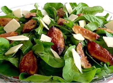 Salada de Rúcula com Figos, Búfala e Presunto de Parma – Por Chef Henrique Burd