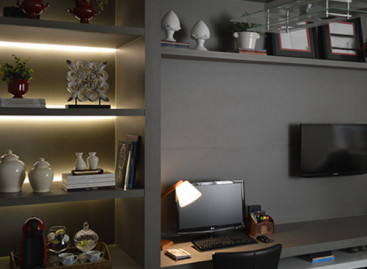 Madeiras e tons acinzentados são tendências para home office