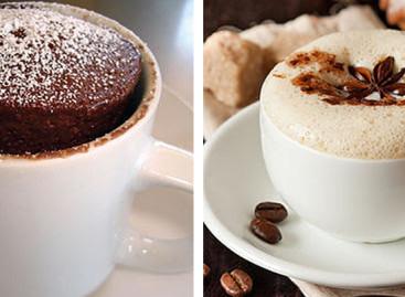 Receitas de bolo de caneca fit e cappuccino proteico gelado