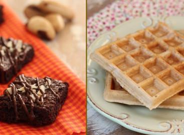 Receitas de Brownie e Waffle de Tapioca