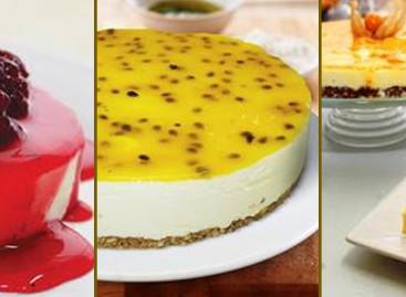 Receitas zero açucar de cheesecakes