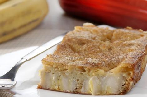 Torta de banana sem açúcar em 20 minutos