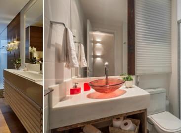 Banheiro que também tem função de lavabo