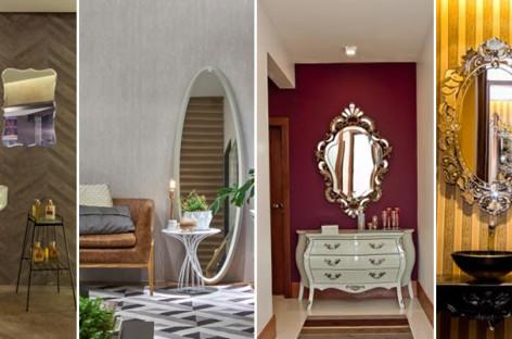 Espelhos soltos e adornados voltam ao décor