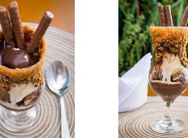 Sobremesa gelada com brigadeiro e Nutella