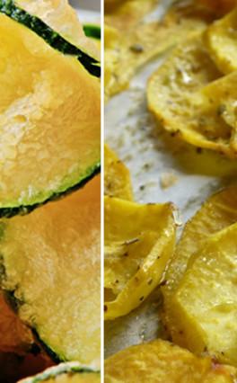 Receita de Chips de Abobrinha e de Batata Doce – Por Chef Henrique Burd