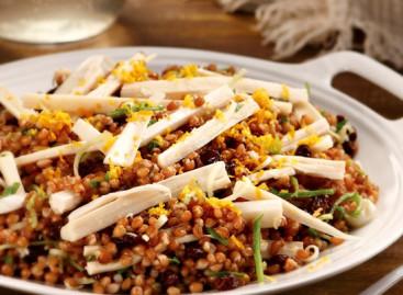 Receita: Salada de Trigo, Palmito e Raspas de Laranja