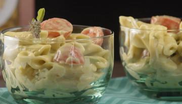 Salada de Penne e Guacamole – Sem glúten