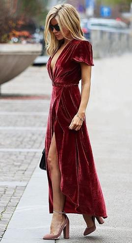 vestido veludo inverno 2017 BH Mulher