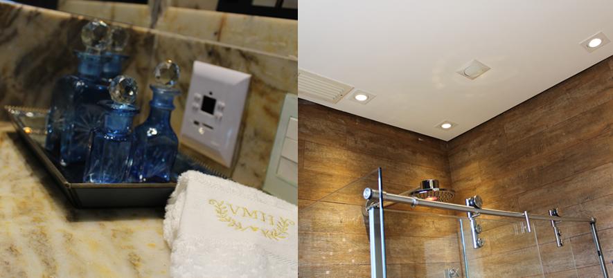 Decoração Banheiro inteligente com tema Zen BH Mulher