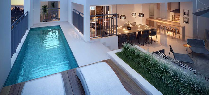 decoração cobertura piscina bh mulher