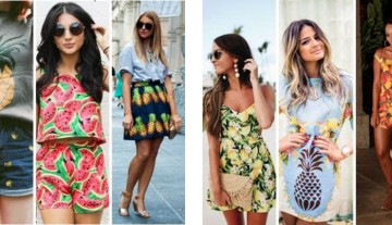 Moda: tendência estampa de frutas
