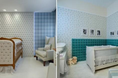 Capitonê se torna hit na decoração dos quartos de bebê