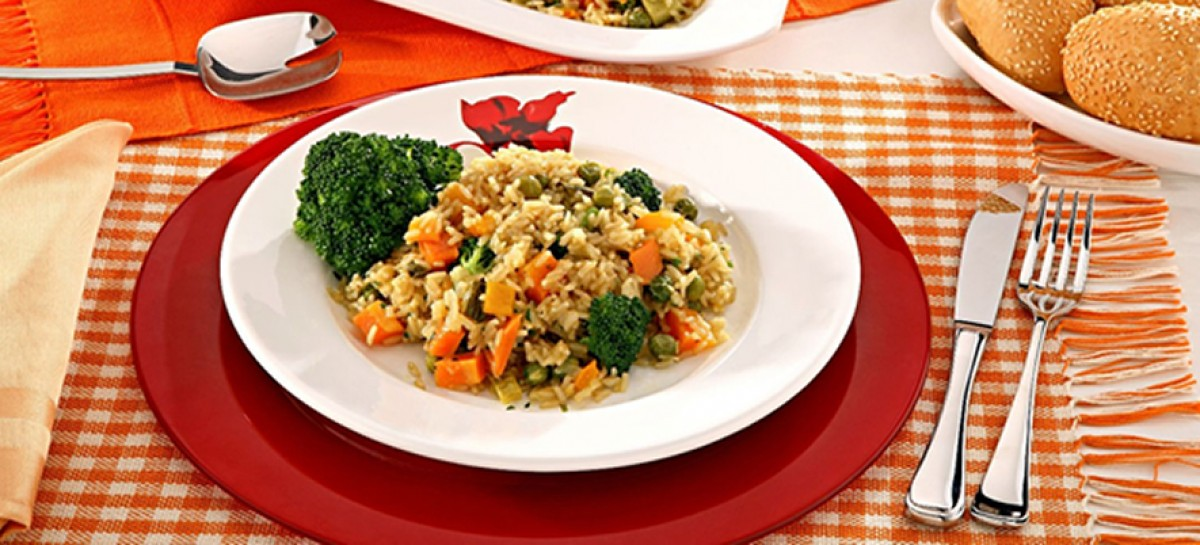 Receita de Risoto Vegetariano Primavera