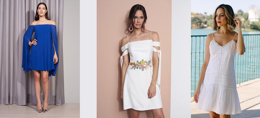 moda vestidos curtos para verão 2018 BH Mulher