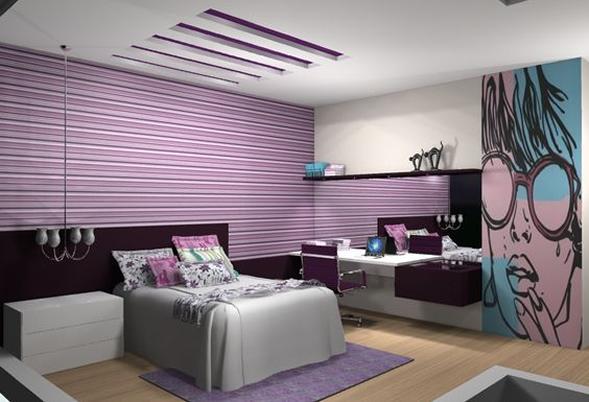 ultra violet quarto decoração bh mulher